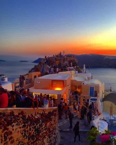 Oia, sunset time, Santorini, Greece
