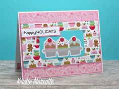 The best things in life are Pink.: Doodlebug Design's Milk & Cookies collection - One 6x6 paper pad into 32 cards