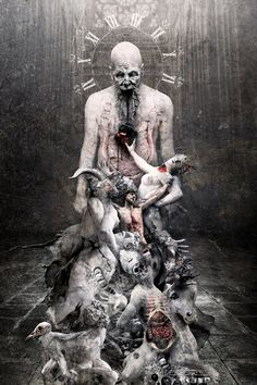 Sulphur rain. You'll know the secrets of Hell. Your leaders... revealed. Shadows cover the naked kings. Bringer of plagues and disease. Doom leads your hand. Writing the Apocalypse. ~ The Great Mass | Septic Flesh – Artwork: Seth Siro Anton