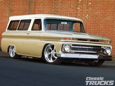 Check out this 1966 Chevrolet Suburban that has a GMPP 350 Vortec engine, Firestone airbags, and an Edelbrock 650-cfm carburetor. Read more only at www.classictrucks.com, the official website for Classic Trucks Magazine!