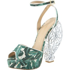 A picnic in a shoe...Charlotte Olympia Wire-Heel
