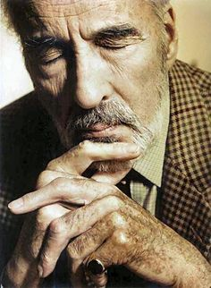 Christopher Lee. I printed this so I could put it in my idea book. Wisdom, thoughtfulness, ageless grace, character, handsome (I wanted to say beauty), strength, I wish we could have met just once.