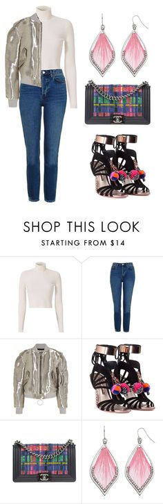 """Color Rainbow (ms)"" by ale-pink5 ❤ liked on Polyvore featuring A.L.C., Topshop, Off-White, Sophia Webster and Chanel"