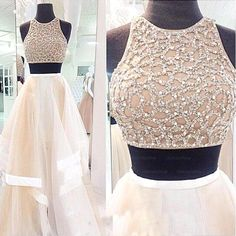 floor length 2 piece sexy prom dress - Google Search
