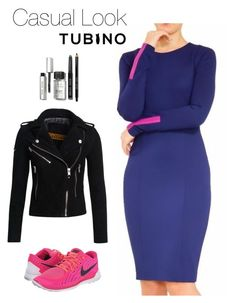 Casual Look Selena Blue by tubino-skirts-dresses on Polyvore featuring mode, Superdry, NIKE and Bobbi Brown Cosmetics