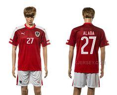 http://www.xjersey.com/austria-27-alaba-home-euro-2016-jersey.html AUSTRIA 27 ALABA HOME EURO 2016 JERSEY Only 33.11€ , Free Shipping!