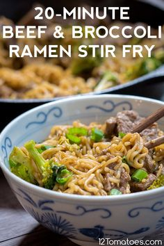 Need a quick dinner the family will love? Asian Recipes, Beef Recipes, Cooking Recipes, Ramen Recipes, Recipies, Beef Dishes, Food Dishes, Main Dishes, Bon Dessert