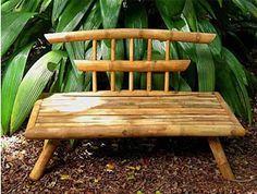 Bamboo Sofa, Bamboo Lamp, Bamboo Furniture, Handmade Furniture, Small Patio Design, Bamboo House Design, Bamboo Building, Tiki Bar Decor, Bamboo Structure