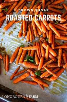 Oven roasted carrots are an amazing recipe perfect for any occasion. It doesn't matter if it's a holiday feast or a weeknight meal, carrots are there for you, and with this simple oven-roasted carrots recipe, you can be there for them too. Oven Roasted Carrots, Weeknight Meals, Easy Meals, Brown Sugar Roasted Carrots, Vegan Vegetarian, Good Food, Great Recipes, Food To Make, Side Dishes