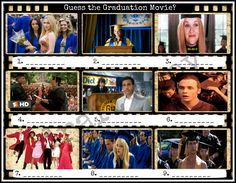 Graduation Movie Game | Guess the Movie | Instant Download by 31Flavorsofdesign on Etsy