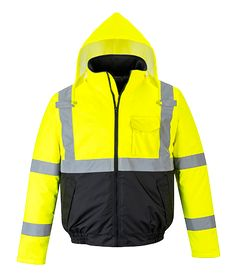 Yellow Large S463YERL |Next working day to U PORTWEST Hi-Vis Bomber Jacket