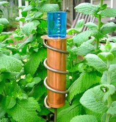 World's Coolest Rain Gauge.  The original floating rain gauge. Solid copper, unbreakable, frost proof, made in USA.