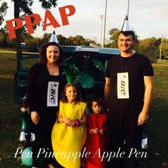 PPAP Family Halloween Costumes. Pen Pineapple Apple Pen costume.