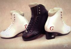 You can mix and match just about anything to create a custom. Check out these 2010 Fushion Boots with ice dancing soles for Piper Gilles and Paul Poirier! Ice Skating, Figure Skating, Custom Boots, Ice Dance, Skates, High Top Sneakers, Dancing, Create, Heels