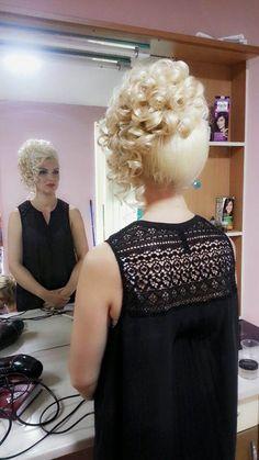 Evening Hairstyles, Bun Hairstyles For Long Hair, Pretty Hairstyles, Wig Hairstyles, Permed Hairstyle, Curly Wedding Hair, Bridal Hair Updo, Shot Hair Styles, Curly Hair Styles