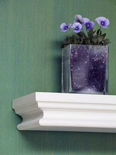 Accent a wall or the backs of bookcases with this easy three-step paint treatment. Although it looks rich, it is fairly smooth so it's easy to paint over if you tire of the look.