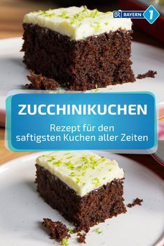 Zucchini Cake: Recipe for Chocolate Zucchini Cake from . This zucchini cake is a very tasty, sweet alternative if you have harvested too many zucchini but are no longer in the mood for soup, tart or vegetable side dishes. Chocolate Courgette Cake, Cake Chocolate, Decadent Chocolate, Chocolate Cream, Cake Vegan, Zucchini Cake, Recipe Zucchini, Salty Cake, Food Cakes