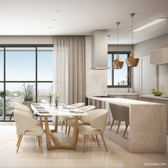 Rooms Ideas, Dinner Room, Interior Rendering, Design Your Home, Dining Table Chairs, Interiores Design, Minimalist Design, My Dream Home, Decoration
