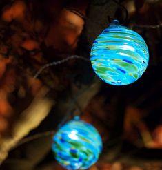 AURORA GLOW ART GLASS SOLAR STRING LIGHTS $56.99 @ puremodern.com