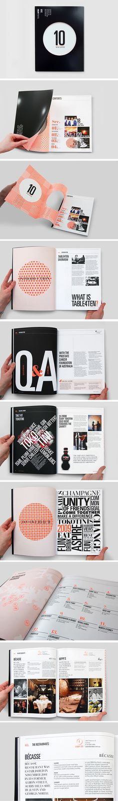 Nice use of typography and patterns for this magazine layout.