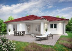 If one-storey homes make you think of outdated granny bungalows, we've found some houses that will get you out of that mindset! Bungalow Haus Design, Bungalow House Plans, Dream House Plans, House Floor Plans, Bungalows, Style At Home, One Storey House, Beautiful House Plans, Storey Homes