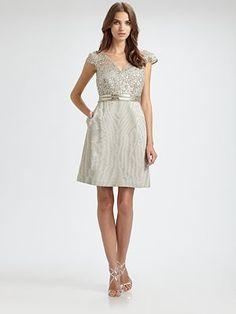 Marina V-Neck Lace Dress
