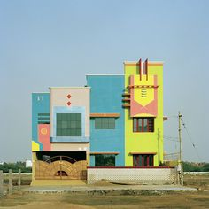Indian housing inspired by Sottsass.