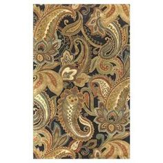 """Anchor your living room seating group or define space in the den with this hand-tufted wool rug, featuring a paisley motif for eye-catching appeal.  Product: RugConstruction Material: 100% WoolColor: Beige, black, chocolate, gold, moss, olive, rust and sea foamFeatures:  Hand-tuftedMade in IndiaPile Height: 0.63""""Note: Please be aware that actual colors may vary from those shown on your screen. Accent rugs may also not show the entire pattern that the corresponding area rugs have.Cleaning ..."""