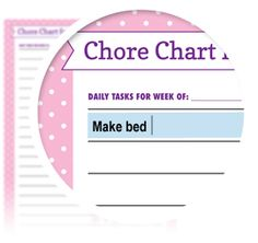 Girl's Chore Chart - Download here: https://www.alejandra.tv/shop/printable-home-organizing-checklists/?utm_source=Pinterest&utm_medium=Pin&utm_content=Checklistk&utm_campaign=Pin  This is a great daily routine tracker designed for kids and their chores!