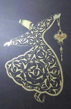 Altın yaldızlı Mevlevi ஐ :)♨️♔♛✤ɂтۃ؍ӑÑБՑ֘˜ǘȘɘИҘԘܘ࠘ŘƘǘʘИјؙYÙř Islamic Motifs, Islamic Art Pattern, Persian Motifs, Pattern Art, Arabic Calligraphy Art, Arabic Art, Calligraphy Worksheet, Iranian Art, Turkish Art