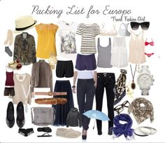 Packing for Europe!... This will definitely help for going to France! http://travelfashiongirl.com/packing-list-for-europe/