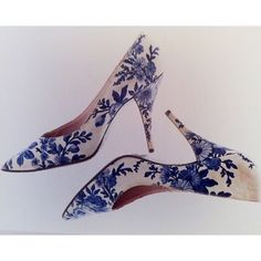 Stiletto heels designed for Dior (1950s) by French shoe designer extraordinnaire Roger Vivier (1907-1998).