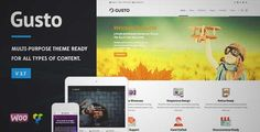 Download and review of Gusto - Vanguard WordPress Theme, one of the best Themeforest Corporative themes