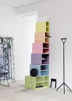 Colored box shelving // from 2020 DKK, Montana
