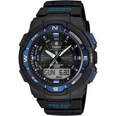 Casio Men's Sport Gear Quartz Black Band Black Digital-Analog dial Dial