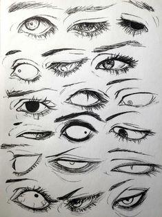 Drawings, Manga, Anime, Eyes, 18 designs to enhance your drawing - art - Drawings Manga Anime Eyes 18 designs to enhance your drawing - Anime Drawings Sketches, Anime Eyes Drawing, Manga Eyes, Drawings Of Eyes, Owl Drawings, Creepy Drawings, Pencil Drawings, Eyes Drawing Tumblr, Crying Eye Drawing