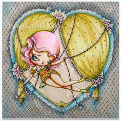 Tie Up My Heart Circus girl-pinkytoast painting by pinkytoast, via Flickr