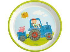 HABA Traktor Teller Melaminteller Kinderteller - lohnende Bonuspunkte sammeln, auf Rechnung bestellen, DHL Blitzlieferung!