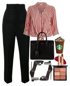 """""""Untitled #1692"""" by mihai-theodora ❤ liked on Polyvore featuring Jacquemus, River Island, Giuseppe Zanotti, Yves Saint Laurent and MAC Cosmetics"""