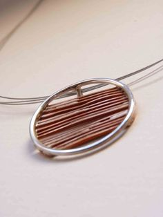 Necklace+round+of+an+inch+copper+and+sterling+silver+por+aforfebre,+$35.00