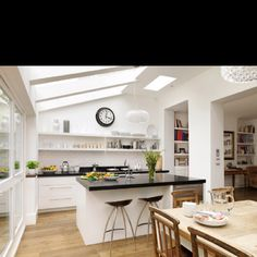 38 Stunning Conservatory Kitchen Ideas Dream Home Conservatory Kitchen Family Rooms, Kitchen Living, New Kitchen, Kitchen Decor, Kitchen Ideas, Kitchen Diner Extension, Open Plan Kitchen, Kitchen On A Budget, Kitchen Extension With Pillar