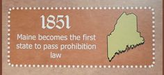 02.06.1851 - 1st US alcohol prohibition law enacted