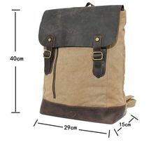 Sacs à dos, Sacs à dos pour ordinateur portable Femme Homme To est une création orginale de vintagebag sur DaWanda
