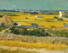 Van Gogh Museum - De oogst 1888 #collectievissen #oogst #Arles @VanGoghmuseum  https://www.vangoghmuseum.nl/nl/collectie/s0030V1962