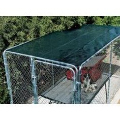 X Green Outdoor Dog Kennel Shade Covers only / Sunblock Tops/Fence Screen(COVER ONLY). * Blocks up to of the Sun's harmful rays. * Will not fade, shrink, mold and mildew. * Reduces temperature up to 15 degrees. Dog Kennel Cover, Fence Screening, Dog Training Pads, Dog Dental Care, Dog Food Storage, Dog Shower, Dog Shedding, Dog Diapers, Dog Eyes
