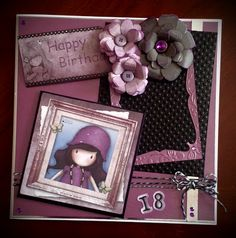 Amanda @ FreshScentsScotland - 18th birthday card using a Gorjuss topper