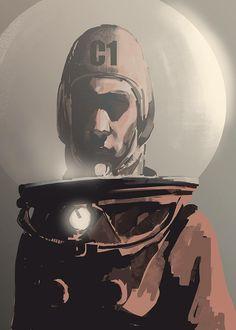 """Omaggio di Elia Bonetti per """"The Shadow Planet"""", progetto Radium in crowdfunding. #scifi #comics #character #crowdfunding"""