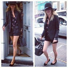 Kate Moss usando suas Pretty Ballerinas #prettyballerinas