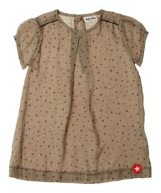 Kik-Kid leuke organische jurk met sterrenprint. kik-kid.nl.emilea.be