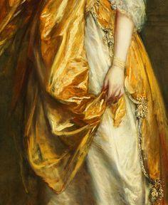 Thomas Gainsborough. Detail from Portrait of Mrs. Grace Dalrymple Elliott, 1778.